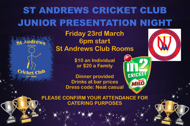 Junior PRESENTATION NIGHT 2018