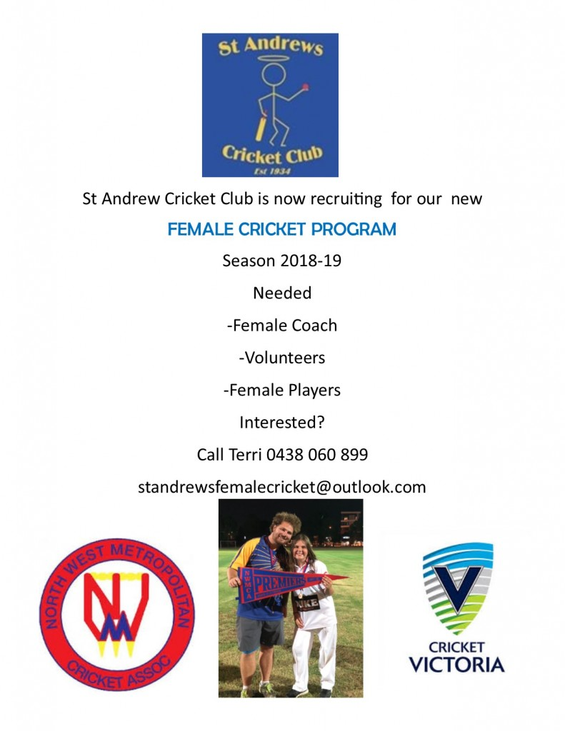 St Andrews - Female Cricket Program