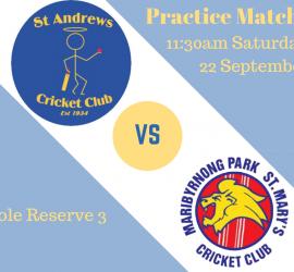 Practice match 201819