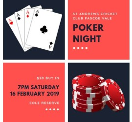 Poker Night 2019 social media
